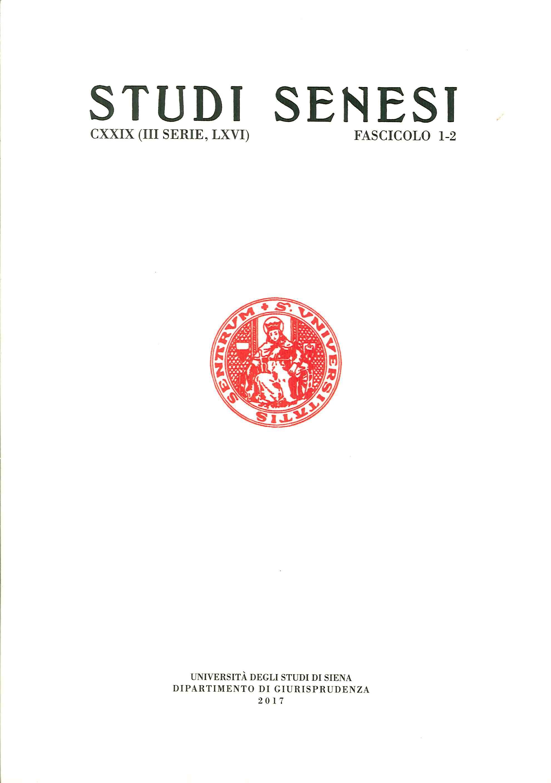 Studi Senesi. CXXIV. (III Serie)). LXVI. Fascicolo 1-2