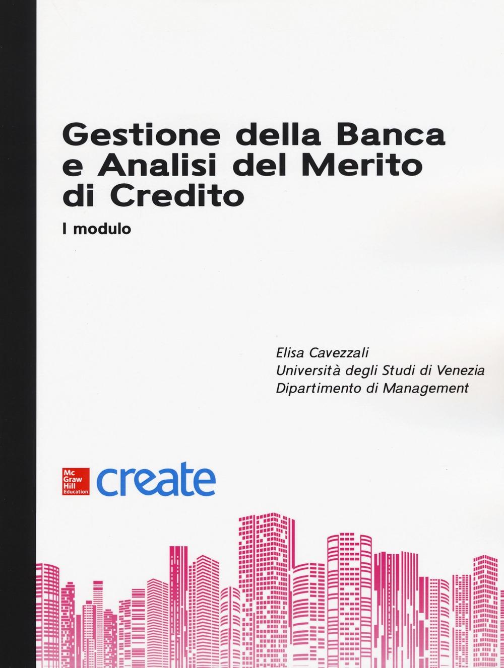 Gestione della banca e analisi del merito di credito. I modulo