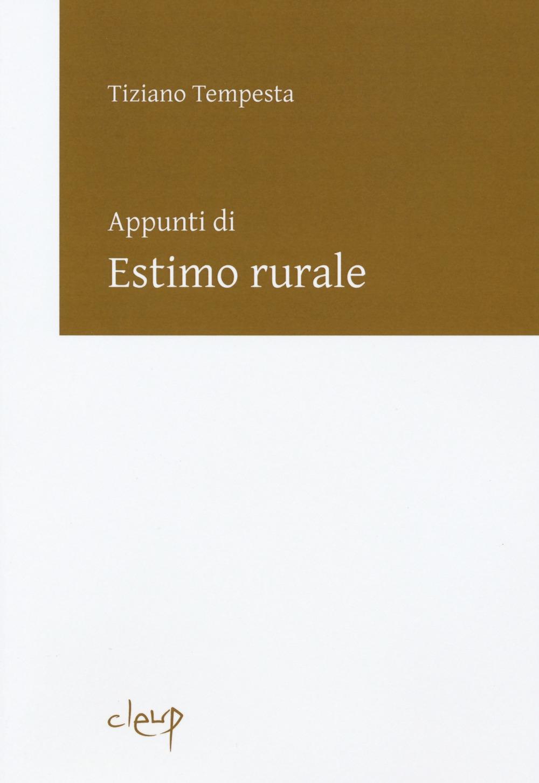Appunti di estimo rurale