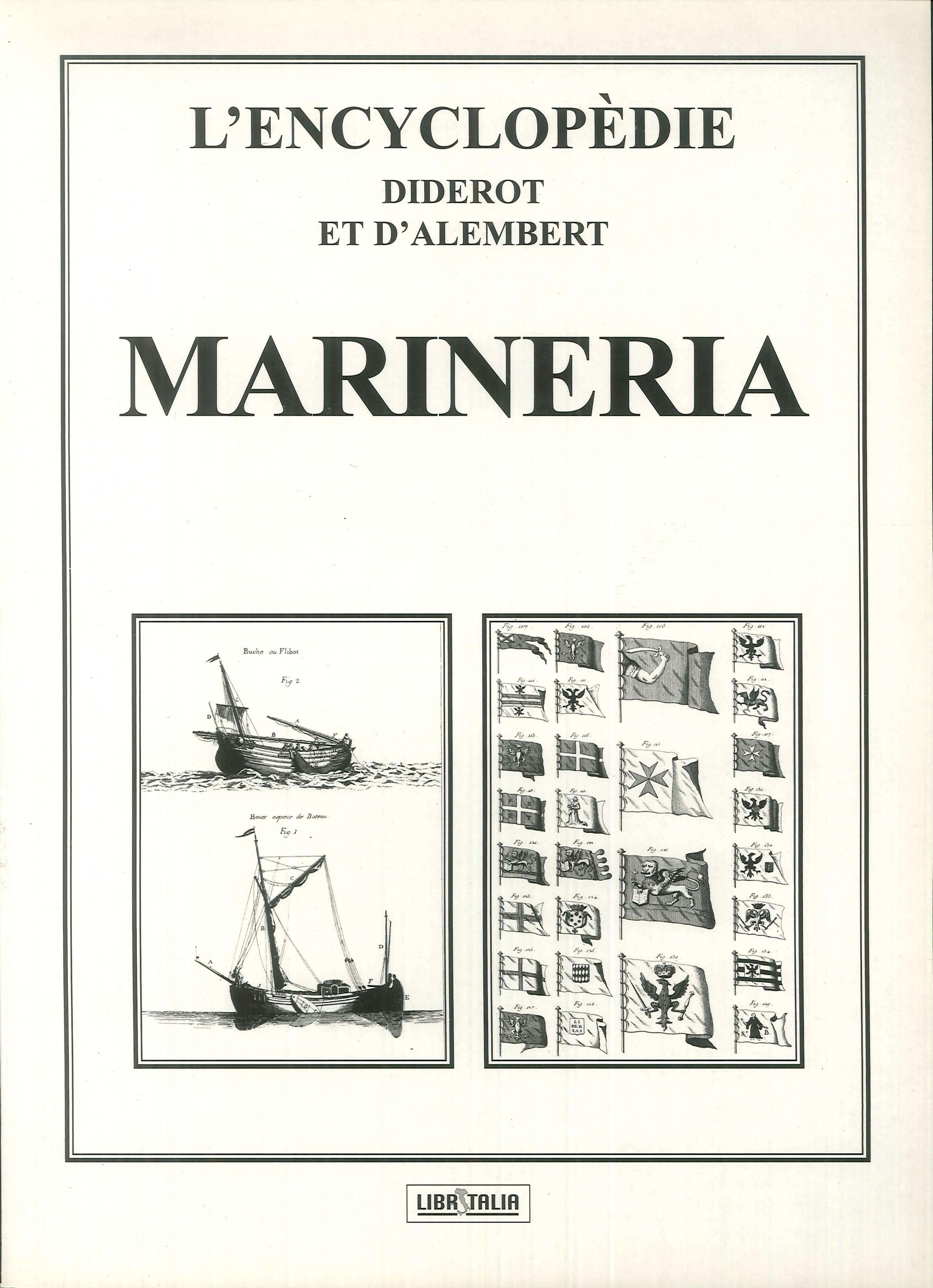 L'encyclopedie Diderot e D'Alembert. Marineria
