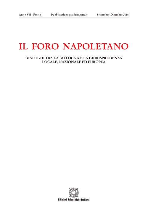 Il Foro napoletano (2018). Vol. 3