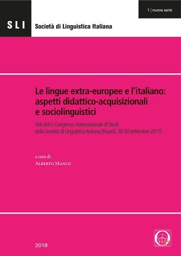Le lingue extra-europee e l'italiano: aspetti didattico-acquisizionali  e sociolinguistici