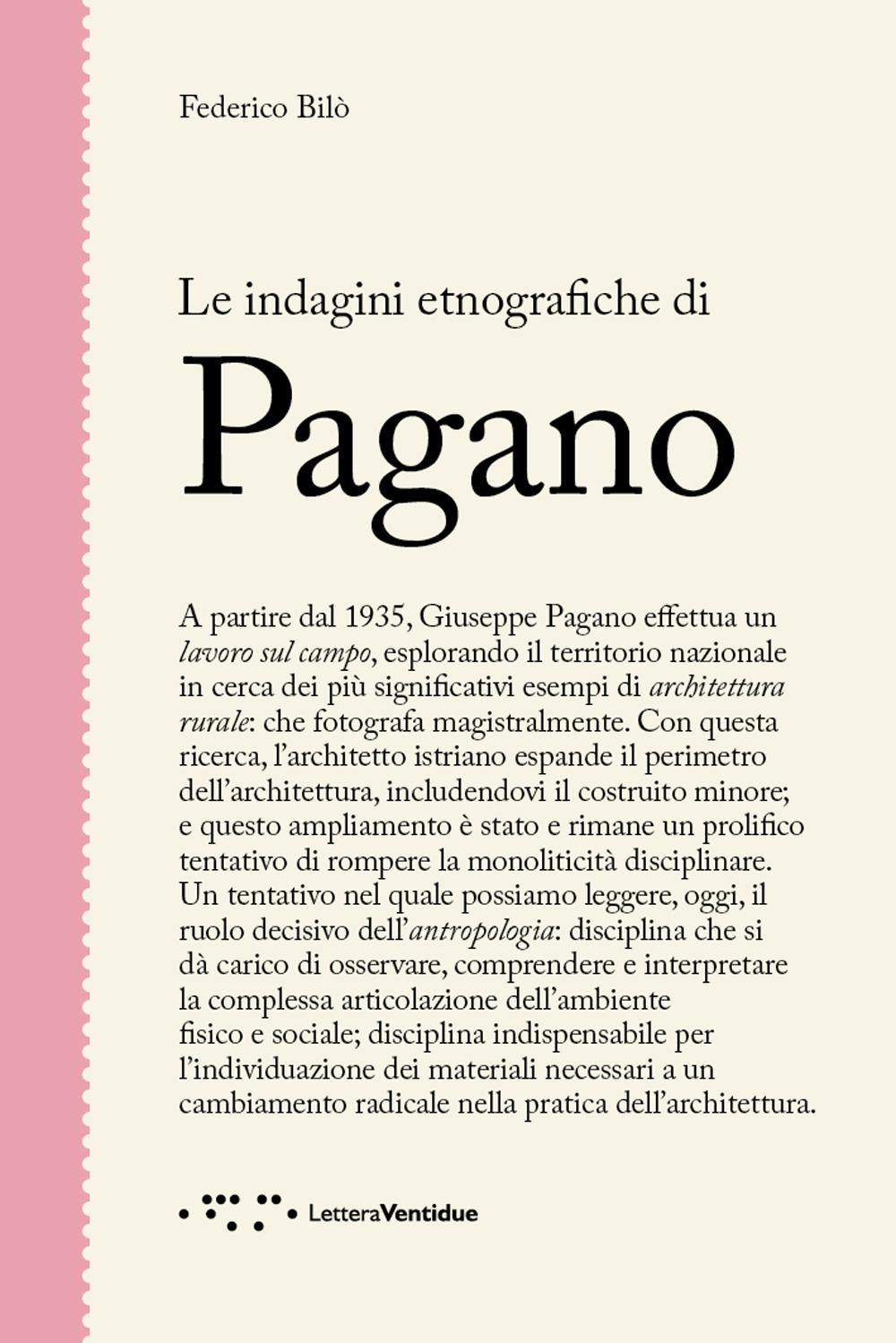 Le indagini etnografiche di Pagano