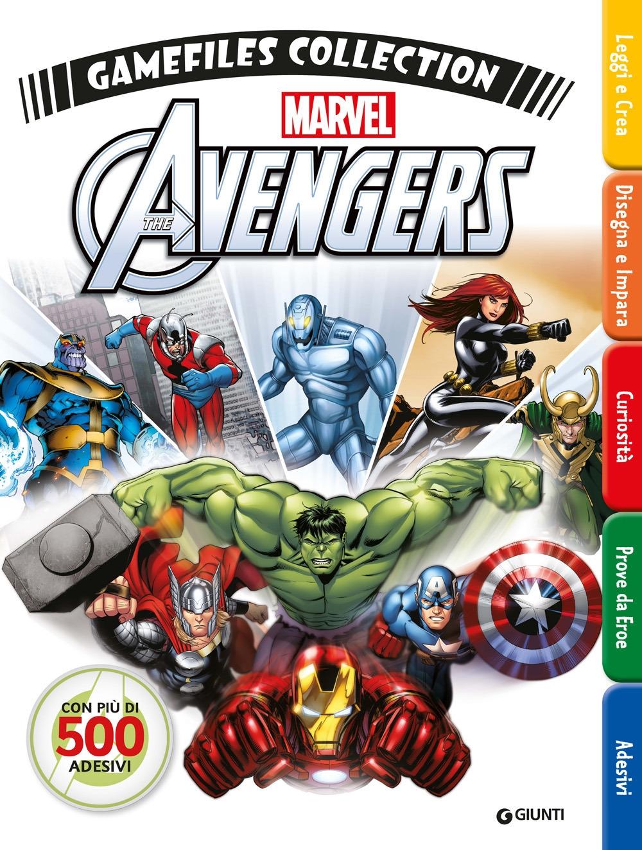 Avengers gamefiles collection. Con adesivi