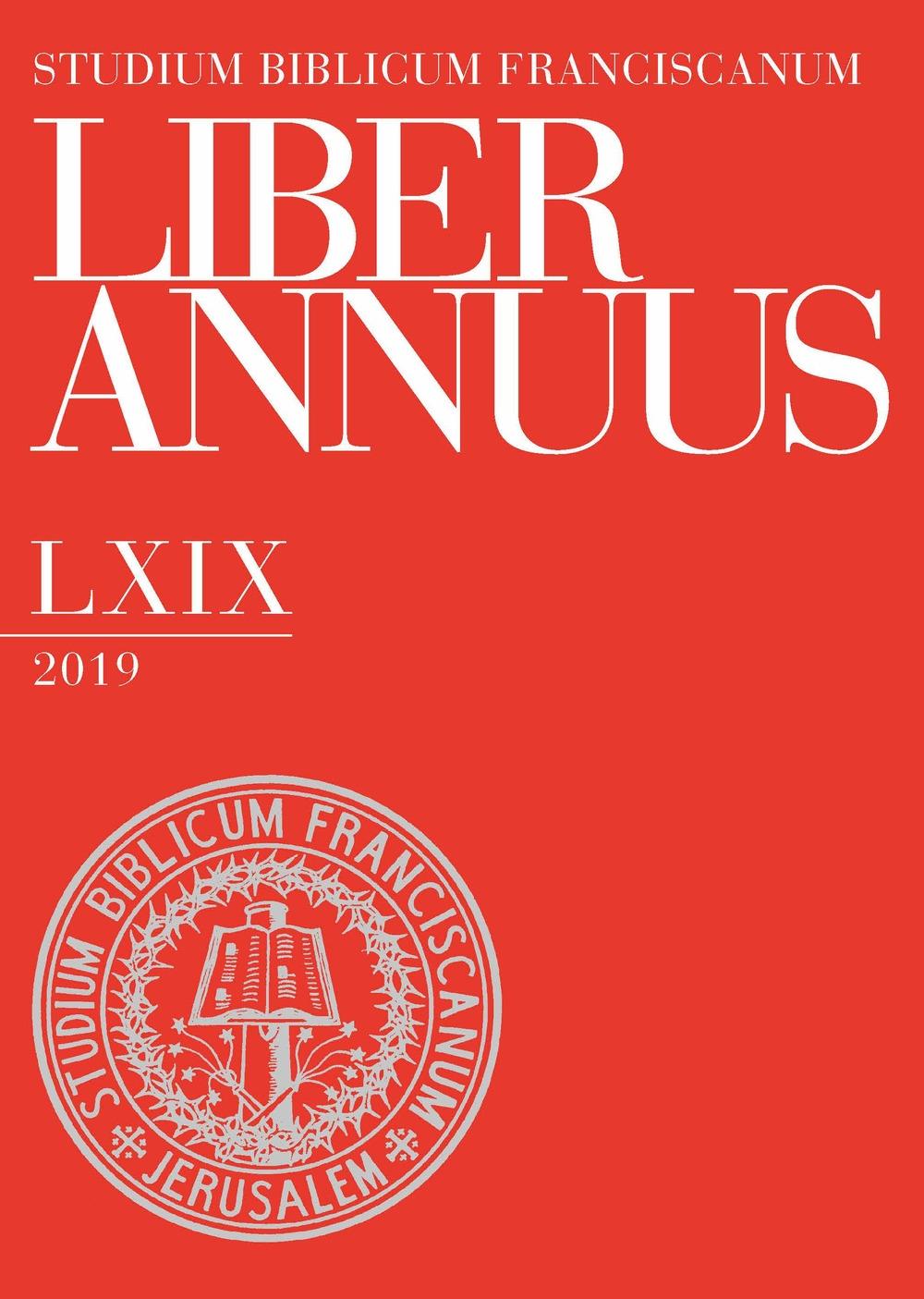 Liber annuus 2019. Ediz. multilingue