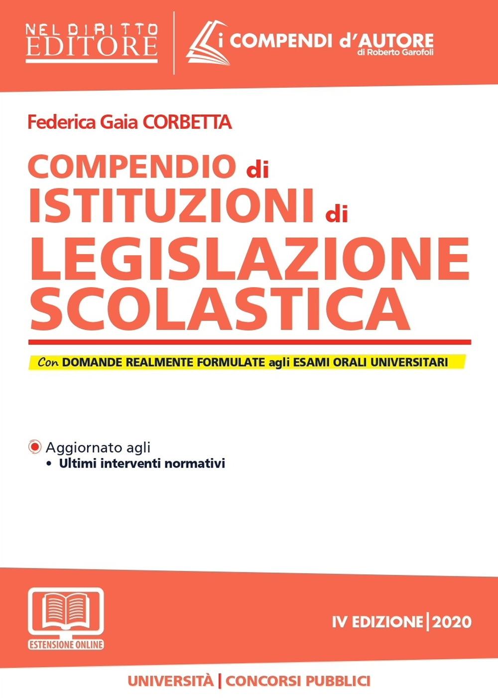 Compendio di istituzioni di legislazione scolastica