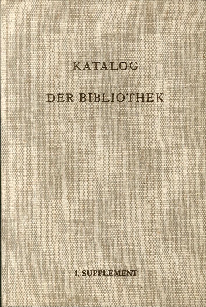 Katalog-Der-Bibliothek-Des-Deutschen-Archaologischen-Instituts-in-Rom-Von-Augus