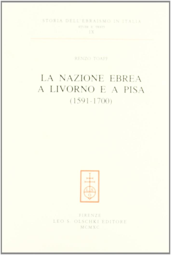 La nazione ebrea a Livorno e a Pisa (1591-1700) | eBay