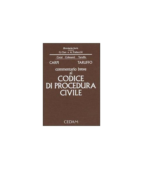 Commentario breve al Codice di procedura civile.