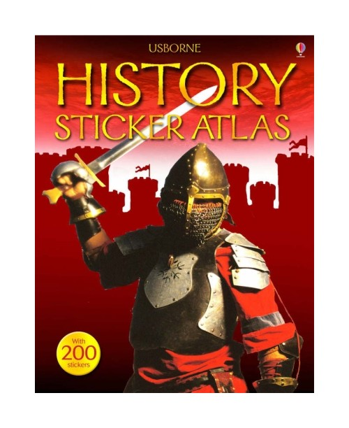 Usborne Sticker Atlas.