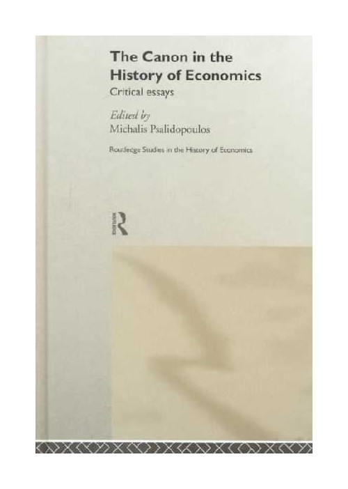 Canon in the History of Economics.
