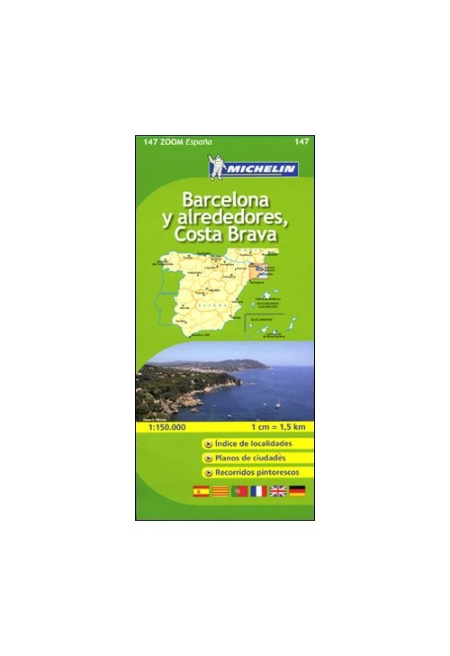 Barcellona-Costa Brava 1:150.000. Ediz. multilingue.