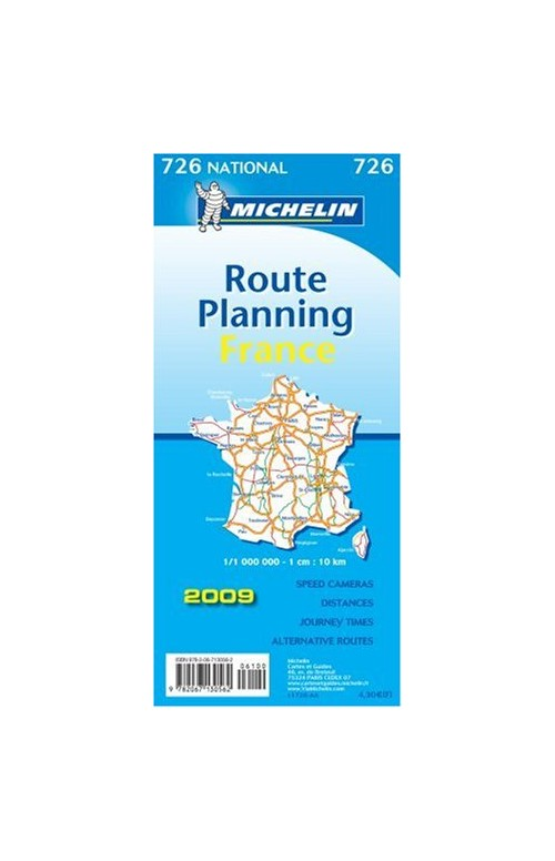 France Grands Itinérairesfrance Route Planning 1:1.000.000.