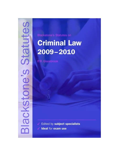 Blackstone's Statutes on Criminal Law.