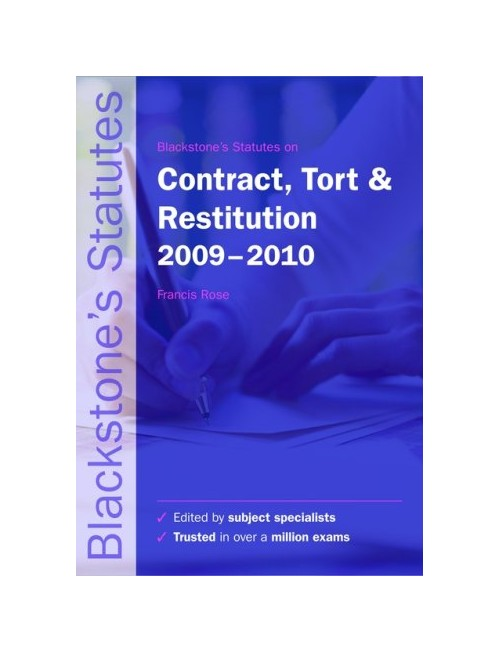 Blackstone's Statutes on Contract, Tort and Restitution.