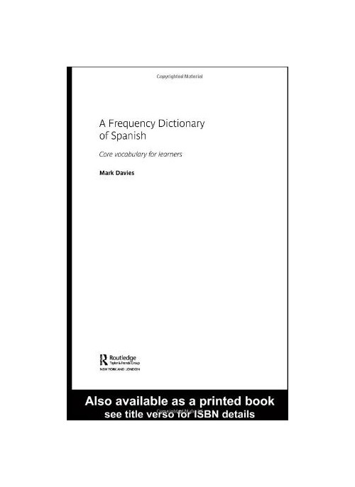 Frequency Dictionary of Modern Spanish.