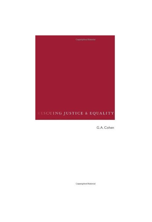 Rescuing Justice and Equality.