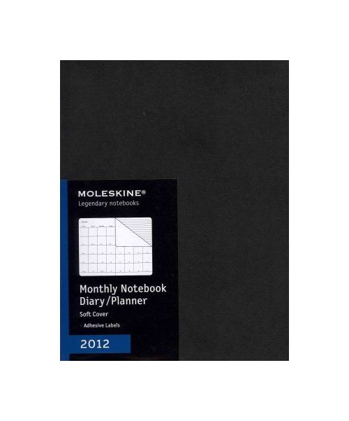 2012 Moleskine Extra Large Monthly Notebook 12 Month Soft.
