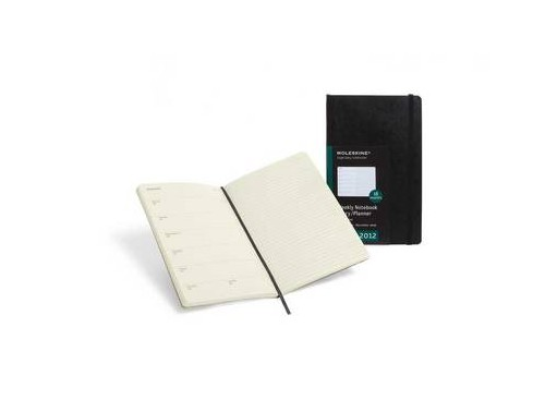 2012 Moleskine Extra Large Weekly Notebook 18 Months Soft.