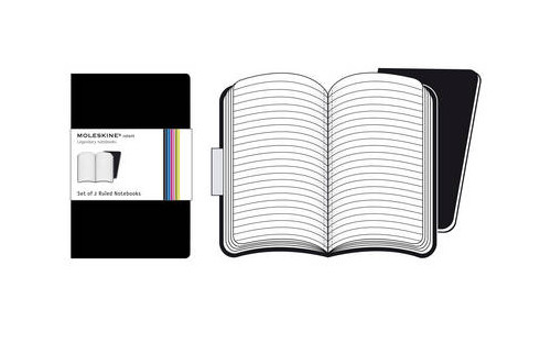 Moleskine Volant Pocket Ruled Black.