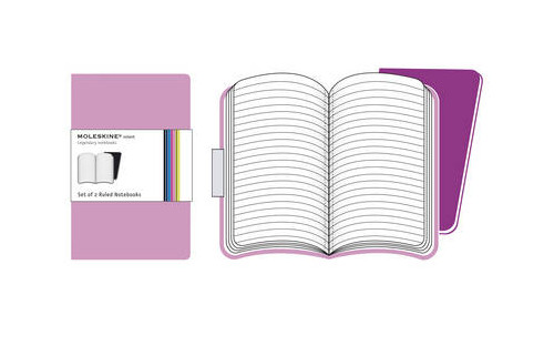 Moleskine Volant Extra Small Ruled Pink.
