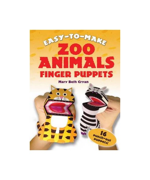 Easy-to-Make Zoo Animals Finger Puppets.