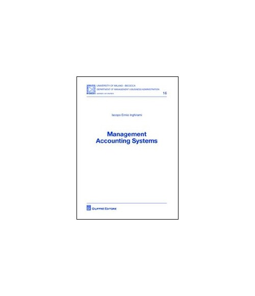 Management accounting systems.