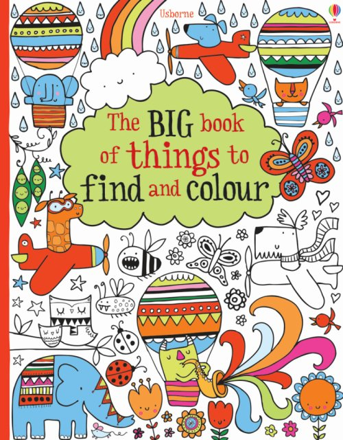 The big book of things to find and colour.