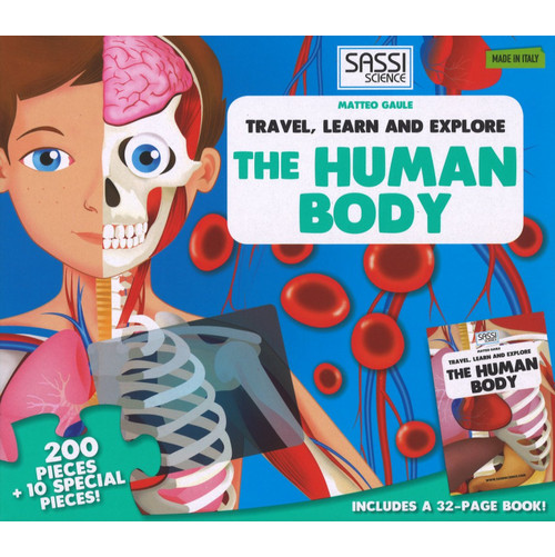 The human body. Travel, learn and explore. Libro puzzle.