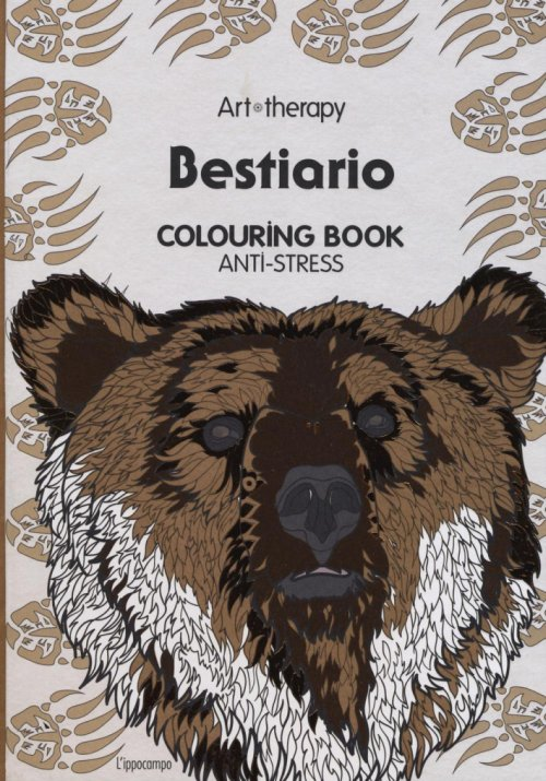 Art therapy. Bestiario. Colouring book anti-stress.