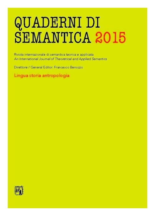 Quaderni di semantica (2015). Vol. 1.