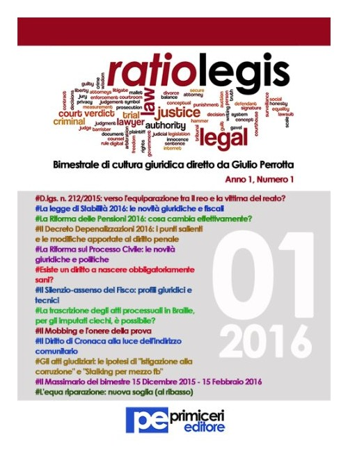 Ratio legis (2016). Vol. 1.