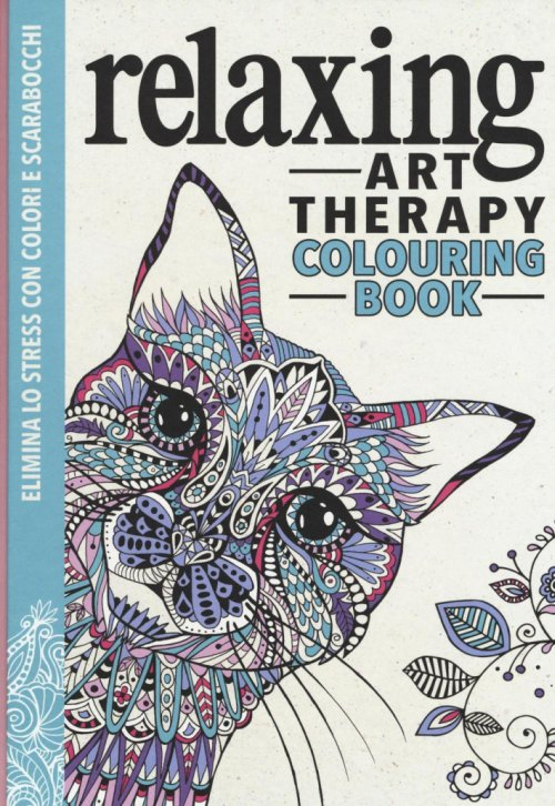 Art therapy. Relaxing. Colouring book.
