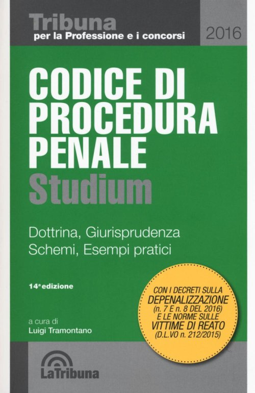CODICE PROCEDURA PENALE 2016 STUDIUM.