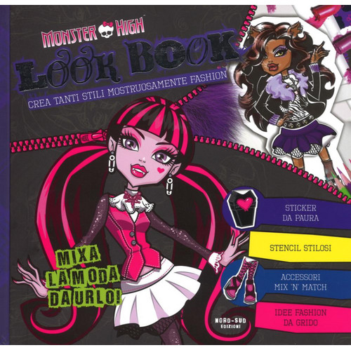 Look book. Monster High. Con adesivi.