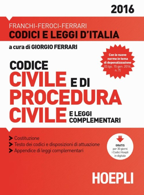 Codice civile­Procedura civile.