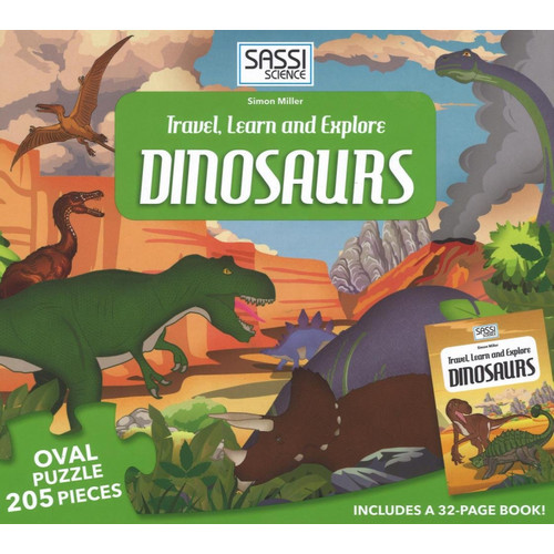 Dinosaurs. Travel, learn and explore. Con gadget.