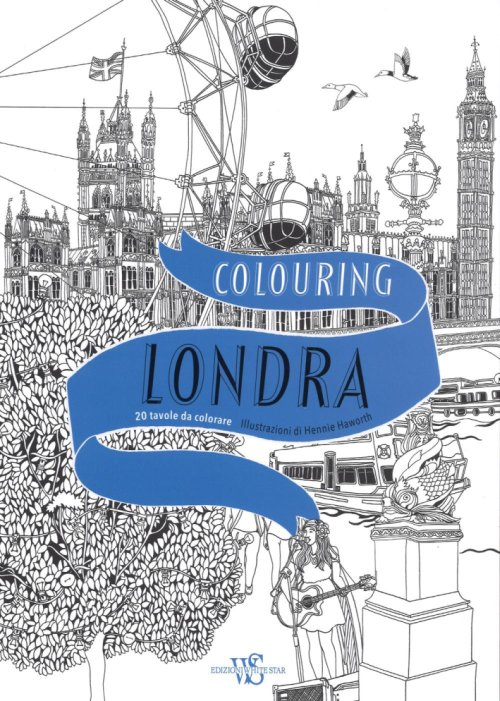 Colouring Londra. 20 tavola da colorare.