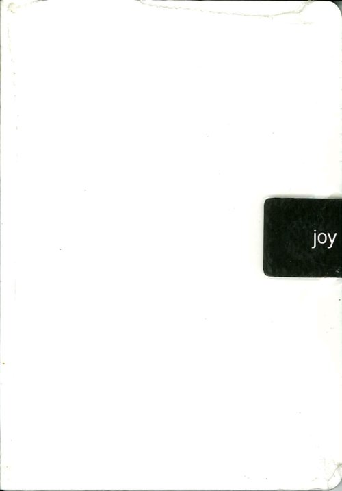 Joy. Ecological Joy Notes. Taccuino con Clip Magnetica. White-bianco.