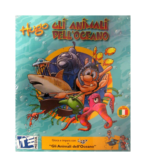 Hugo e gli Animali dell'Oceano. Pc CD Rom.