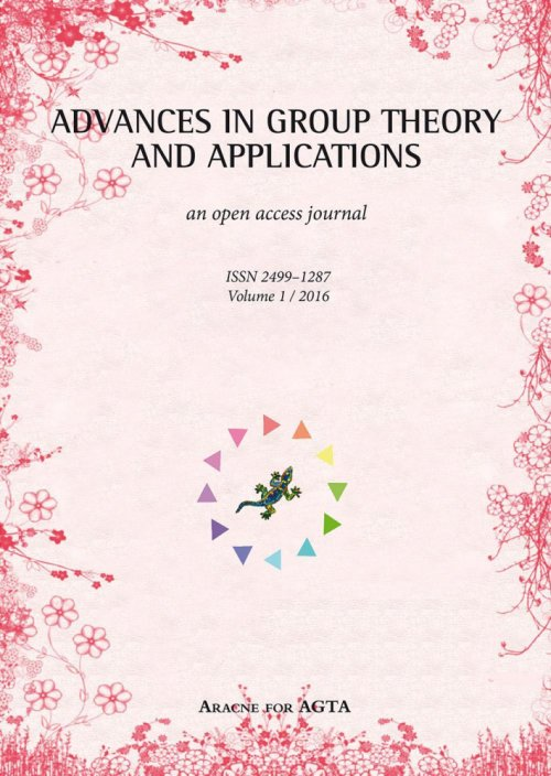 Advances in group theory and applications (2016). Vol. 1.