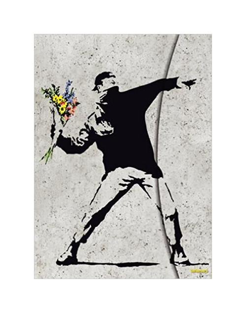 Banksy Flower Bomber Magneto Journal, Large.