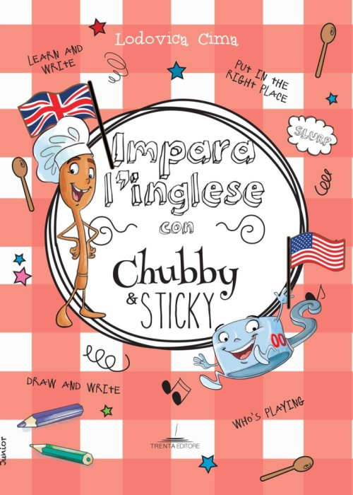 Impara l'inglese con Chubby e Sticky.