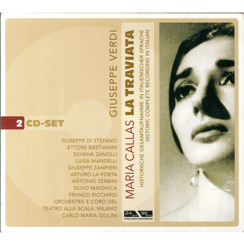 Giuseppe verdi. La traviata. Maria callas. 2 cd-set.