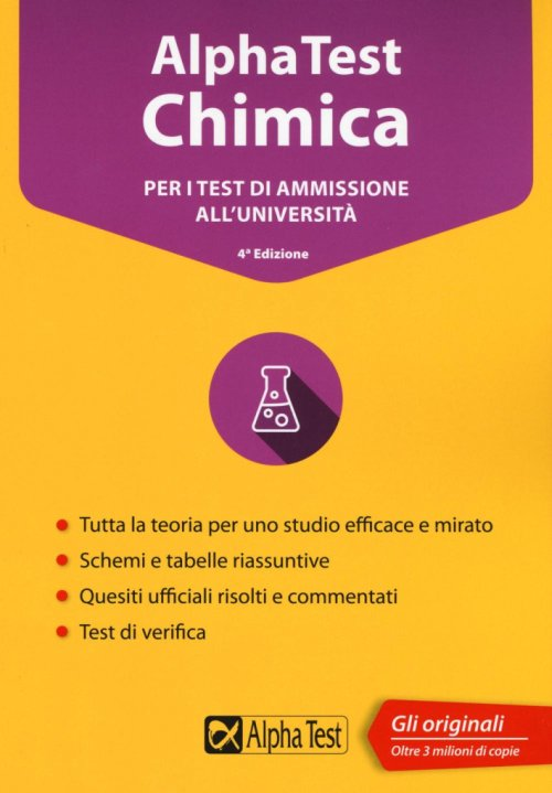 Alpha Test chimica. Per i test di ammissione all'università. Con software di simulazione.