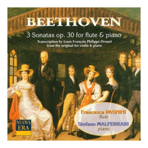 Beethoven. 3 Sonatas Op. 30 For Flute & Piano.