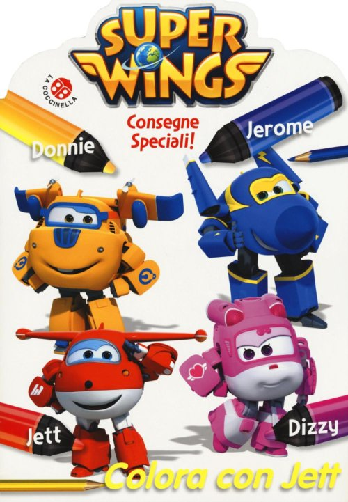 Colora con Jett. Super Wings.