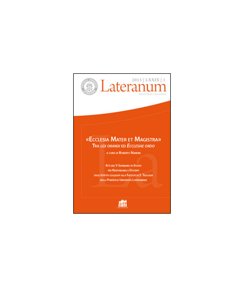 Lateranum (2013). Vol. 1:
