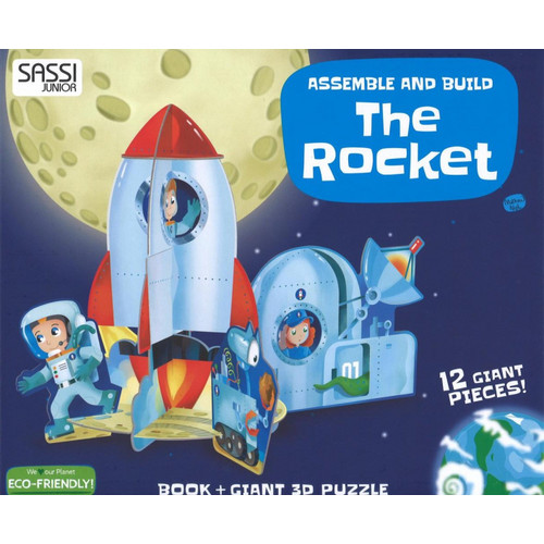 The rocket. Assemble and build. Libro puzzle.