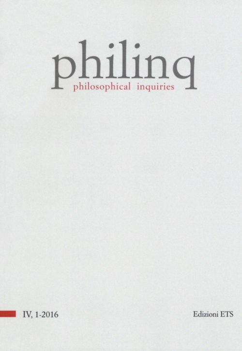 Philinq. Philosophical inquiries (2016). Vol. 1.